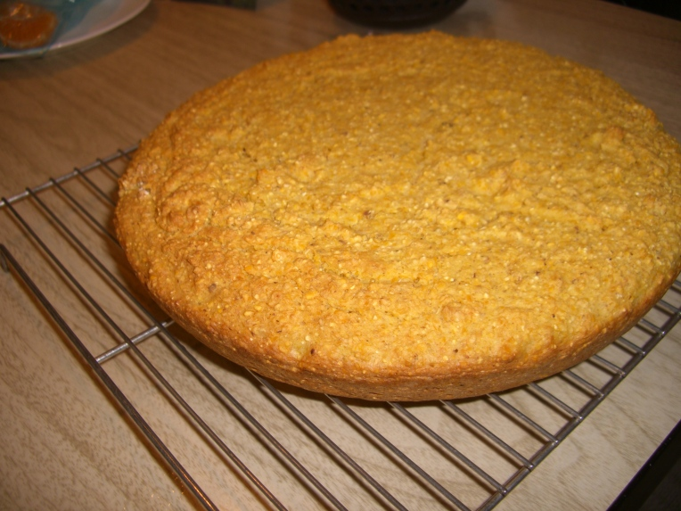 Photo of cornbread that I baked, based on a recipe in the book.