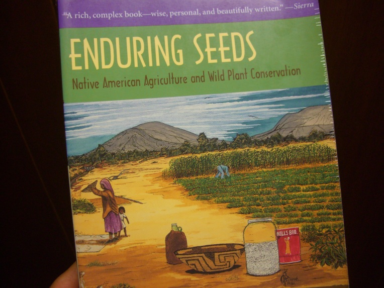 Photo of the cover of Enduring Seeds.